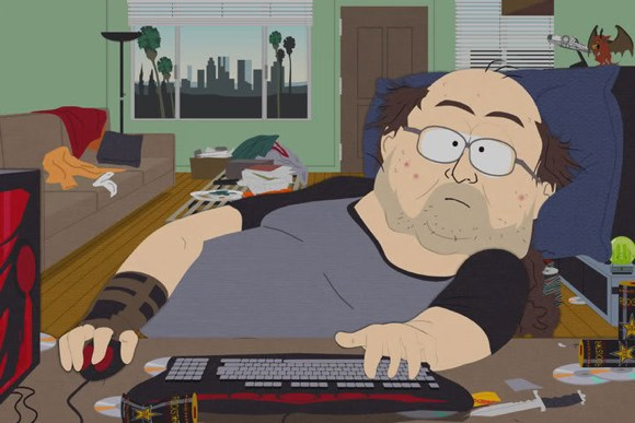Fat Guy At Computer 110