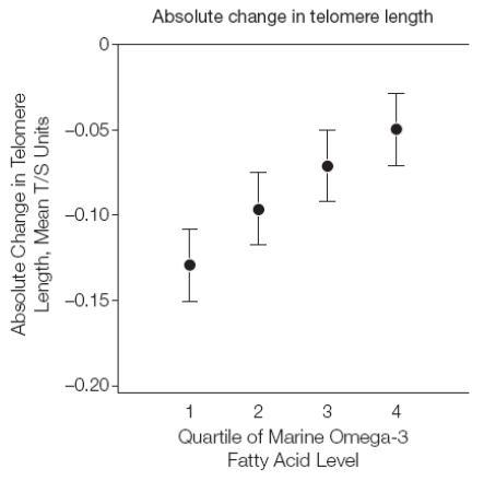 omega-3 intake and telomerase